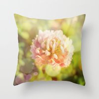 clover Throw Pillows featuring Clover by Magic Emilia