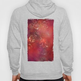 Into the red space surreal bubbles Hoody