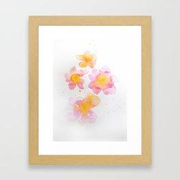 Peach Flowers Framed Art Print