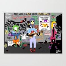 Dirty street mariachi  Canvas Print