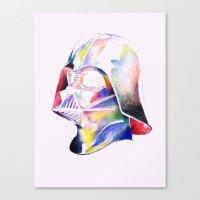 darth vader Canvas Prints featuring Darth Vader by Elliot Sloss