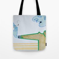 cigarette Tote Bags featuring Cigarette by Grant Czuj