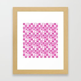 Contraception Pattern (Pink) Framed Art Print