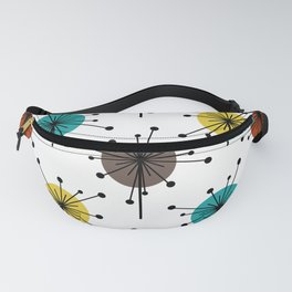 Atomic Era Sputnik Starburst Flowers Fanny Pack