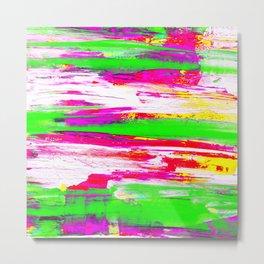 Neon Summer Abstract Metal Print