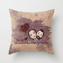 Line Matita's Art - Murales Throw Pillow