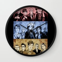 Doctor Who - Three Colours Who Wall Clock