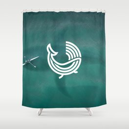 Whale Wave (Sea) Shower Curtain