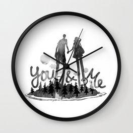 You & Me Wall Clock