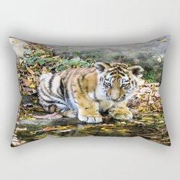 Autumn Tiger Cub Rectangular Pillow