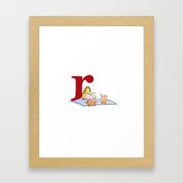 r is for rabbits Framed Art Print
