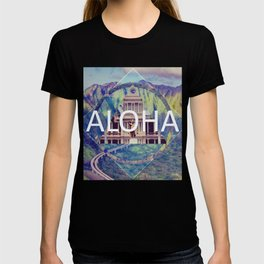 Aloha Blue Geometric T-shirt