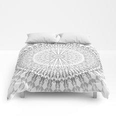 Gray White Mandala Comforters