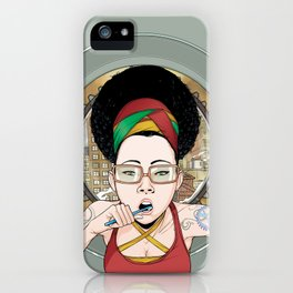 Afrosia getting ready iPhone Case