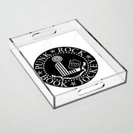 Punk Rock Book Jockey Black Logo Acrylic Tray