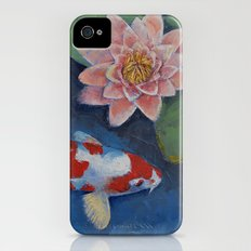 Koi and Water Lily Slim Case iPhone (4, 4s)