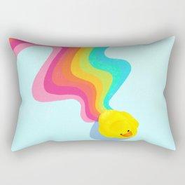 Rainbow Rubber Ducky Rectangular Pillow