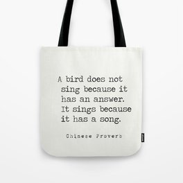 Chinese proverb 3 Tote Bag