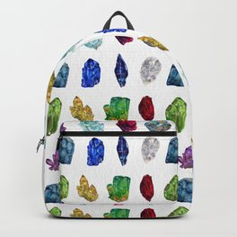 Raw Birthstone Gems Watercolor Collection Backpack