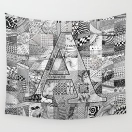 The Letter A Wall Tapestry