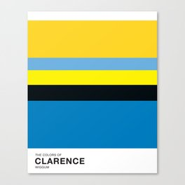 The Colors of - CLARENCE WIGGUM - Simpsons Canvas Print