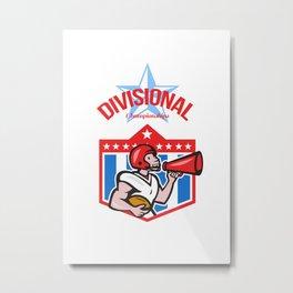 American Football Quarterback Divisional Champions Metal Print