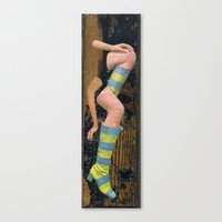 legs Canvas Prints featuring Legs by Karen Constance Collage and Paintings