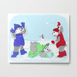 Snowdays Metal Print