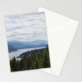 Rocky Mountain lake Stationery Cards