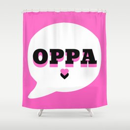 Oppa Shower Curtain