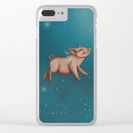 When pigs fly! Clear iPhone Case