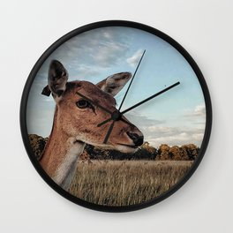 Deer portrait Wall Clock