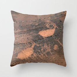Desert Rock Art - Petroglyphs - II Throw Pillow