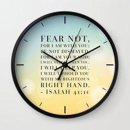 Isaiah 41:10 Bible Quote Wall Clock