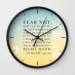 Isaiah 41:10 Bible Quote Wall Clock
