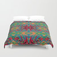 baroque Duvet Covers featuring baroque pop by Matthias Hennig