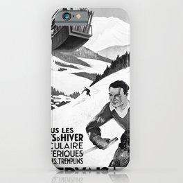 retro vintage St Gervais Les Bains poster iPhone Case