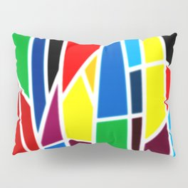 Geometric Shapes - bold and bright Pillow Sham