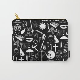 Buffy Symbology, White Carry-All Pouch