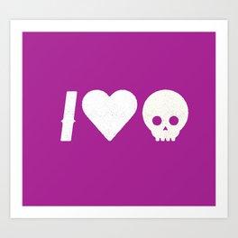 I Love Skulls Art Print