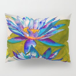 blue lotuses Pillow Sham
