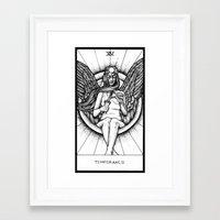tarot Framed Art Prints featuring Temperance Tarot by Corinne Elyse