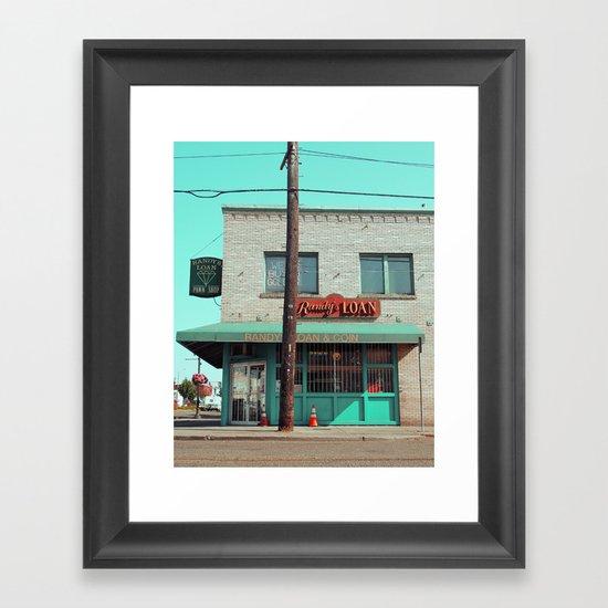 Corner pawnshop Framed Art Print