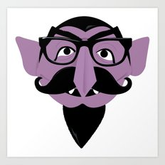 Hipster Count Art Print