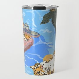 Pool Partiers (Pizza Clam Gator) Travel Mug