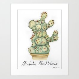 Mimbulus Botanical Art Art Print