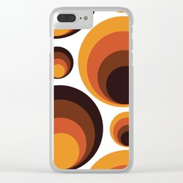 Back To The 70's Clear iPhone Case