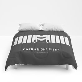 Flat Christopher Nolan movie poster: Dark K. R. Comforters