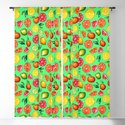 Citrus pattern on green background by whitespirit