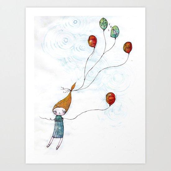 Balloonessa Art Print